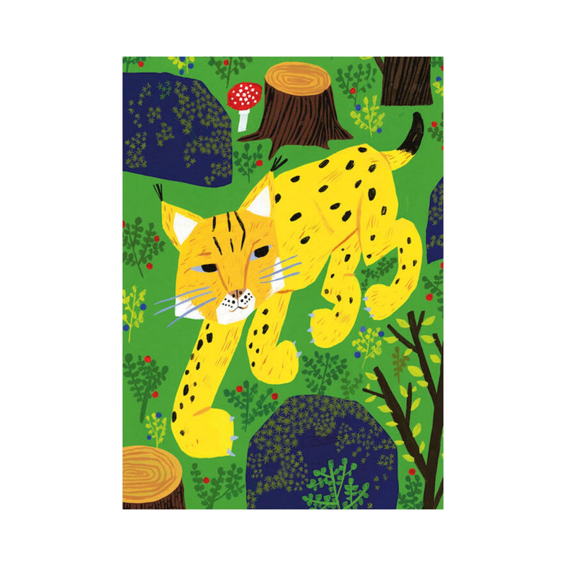 Kehvola ILVES postcard green