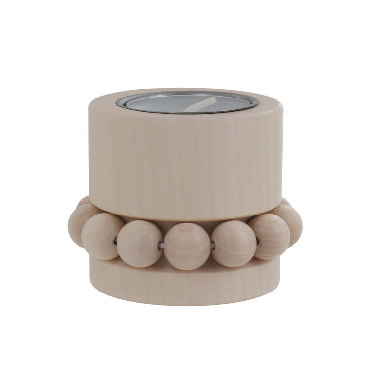 "Aarikka PRINSESSA Tea Light Candle Holder (2"" ) Natural Wood"