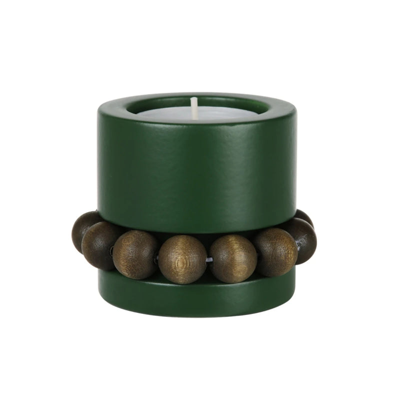 "Aarikka PRINSESSA Tea Light Candle Holder (2"" ) Moss Green"