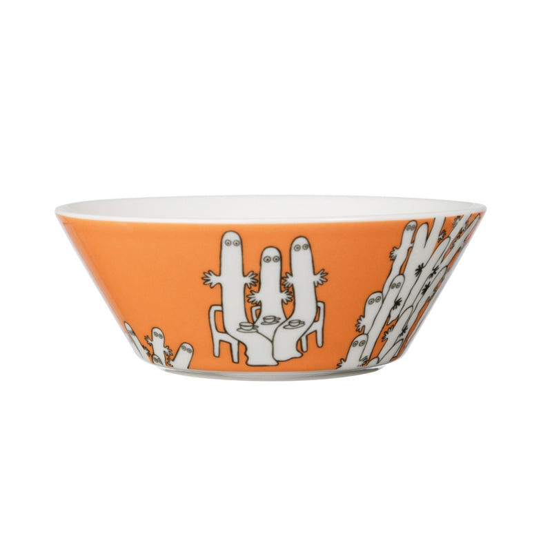 "Arabia MOOMIN orange HATTIFATTENER Bowl (6"") back"