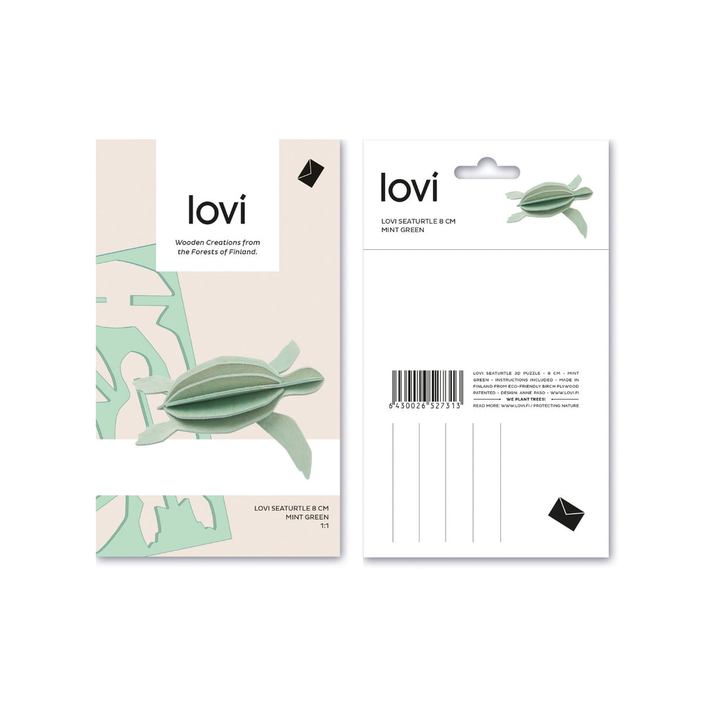 Lovi SEA TURTLE mint green