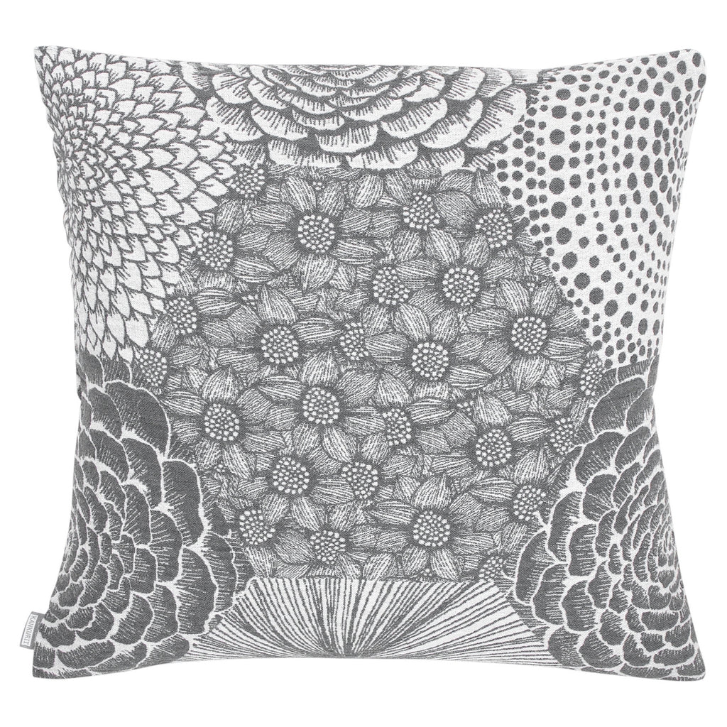 Lapuan Kankurit RUUT Linen-Cotton 18 x 18  Cushion Cover Grey Weaved in Finland