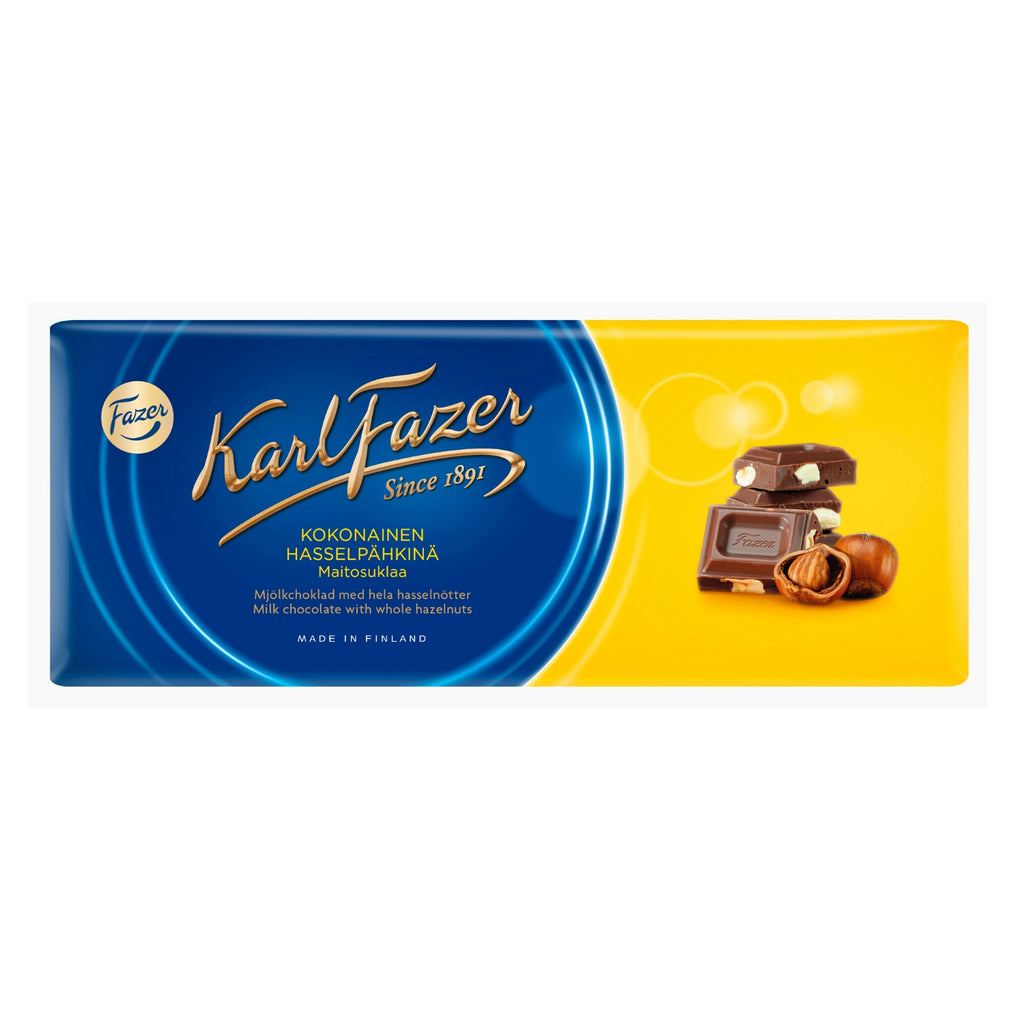 Fazer BLUE Hazelnut Chocolate Bar
