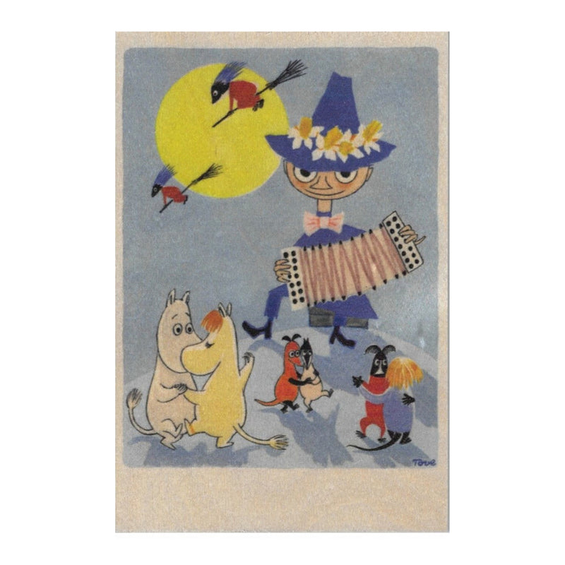 Come to Finland MOOMIN & WITCHES wooden postcard