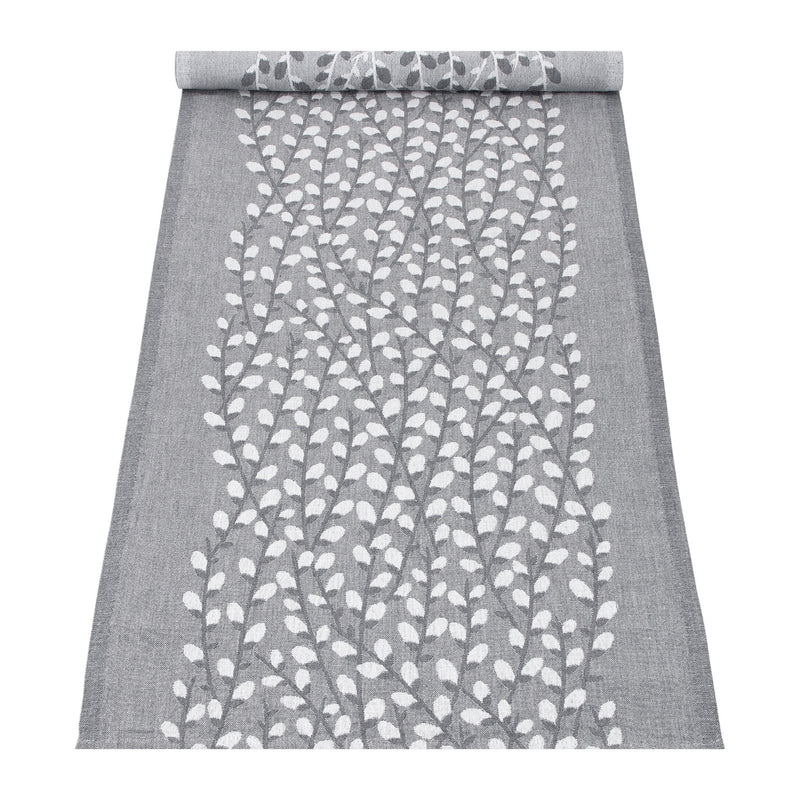 "Lapuan Kankurit VARPU Table Runner (19""x59"") white-grey"