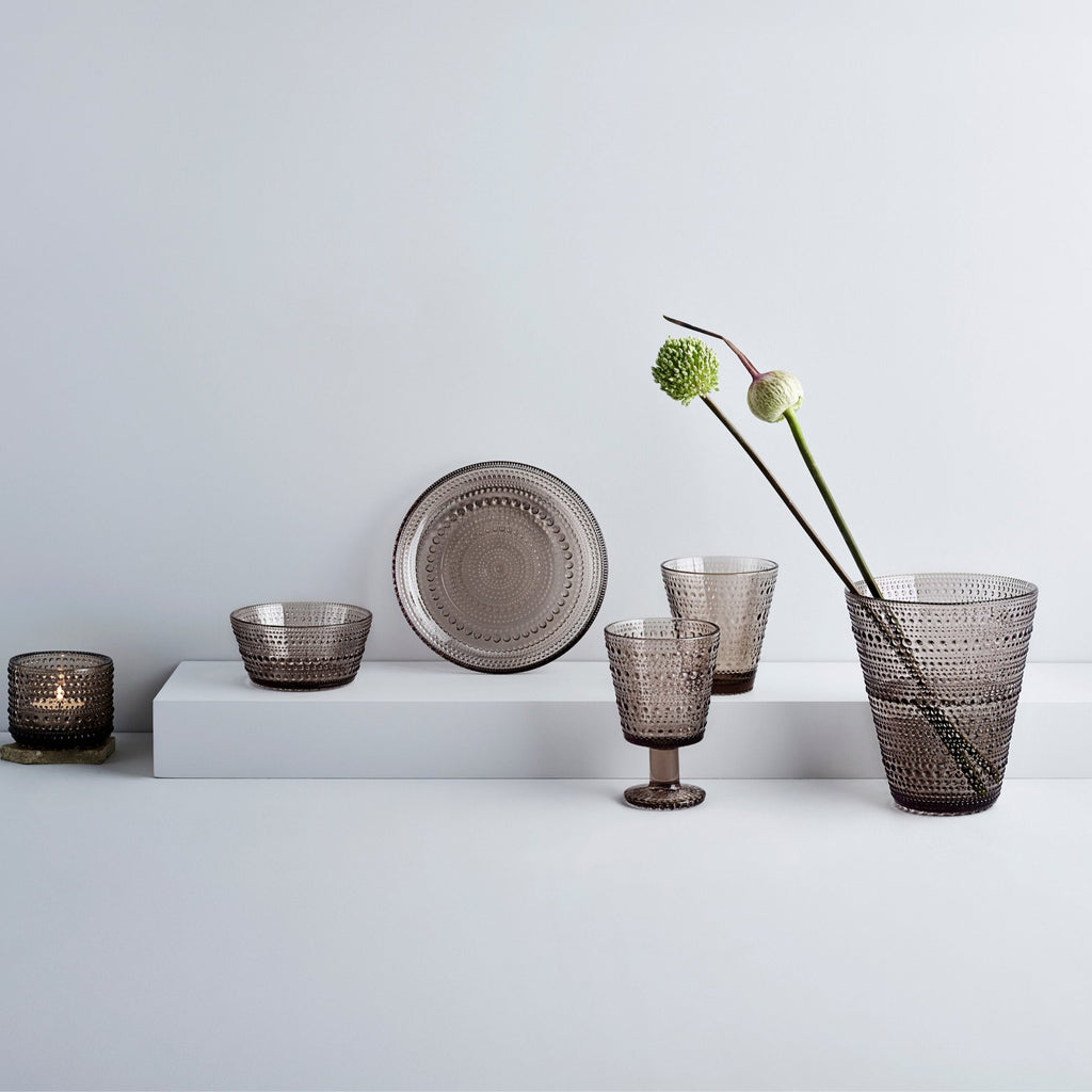 Iittala Kastehelmi Collection in linen color