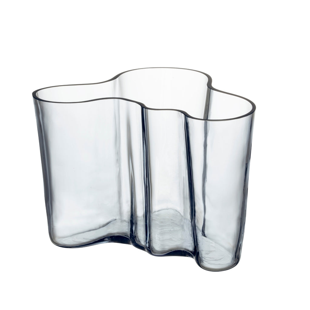 "Iittala AALTO (1936) Vase (5.5"") Recycled Edition Clear"