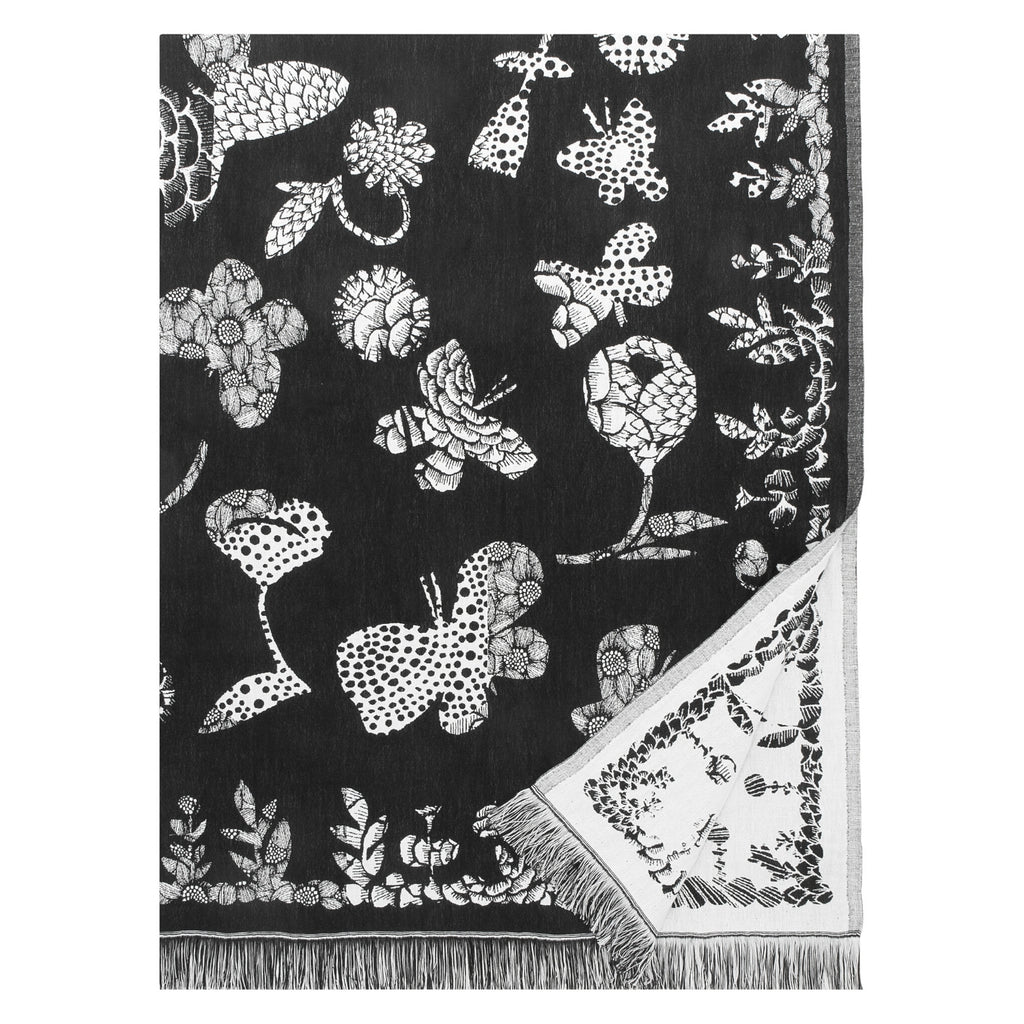 Lapuan Kankurit AAMOS blanket/throw white-black