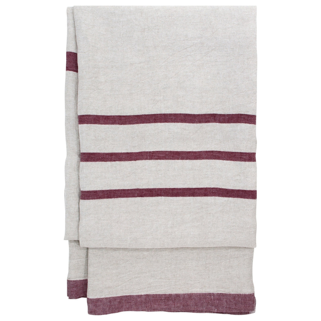 Lapuan Kankurit USVA Blanket - Tablecloth (100 % linen) linen-bordeaux color