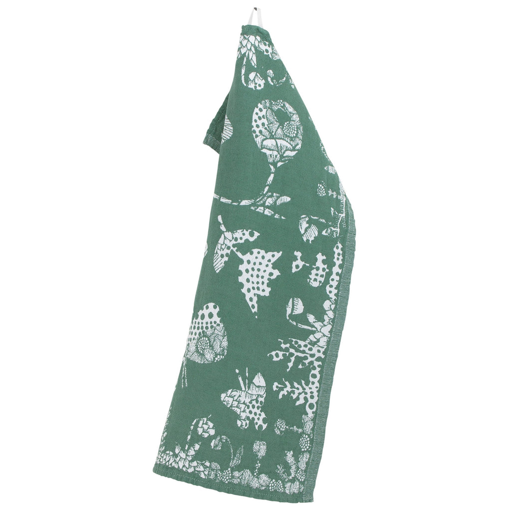 Lapuan Kankurit AAMOS Tea Towel white-green