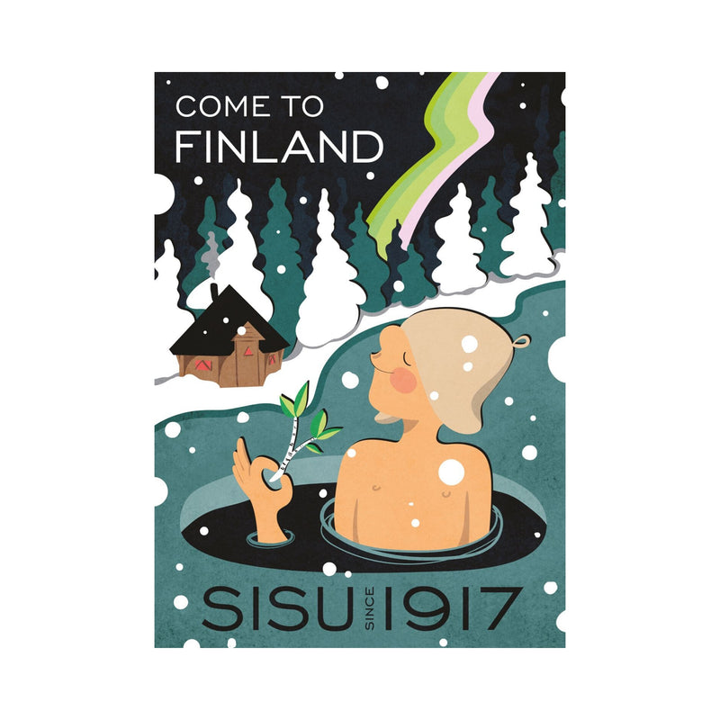 Come to Finland SISU SINCE 1917 travel poster