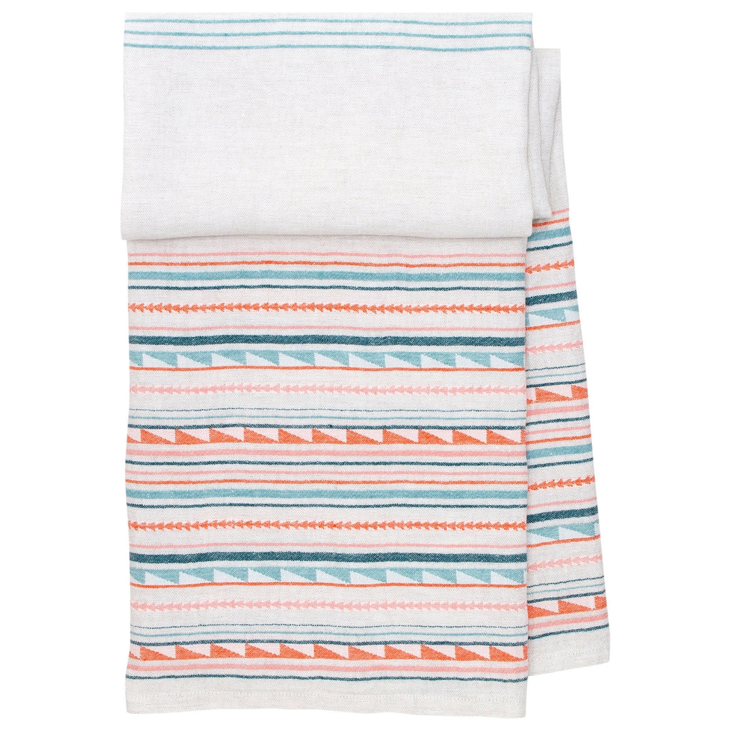Lapuan Kankurit WATAMU 100% Linen Bath Sheet Blue-Red Color