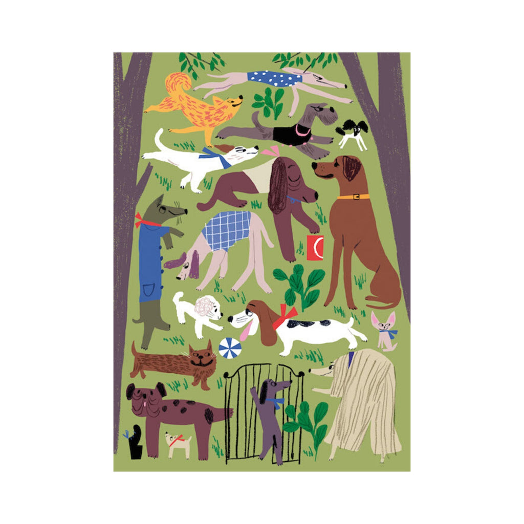 Kehvola DOG PARK print green