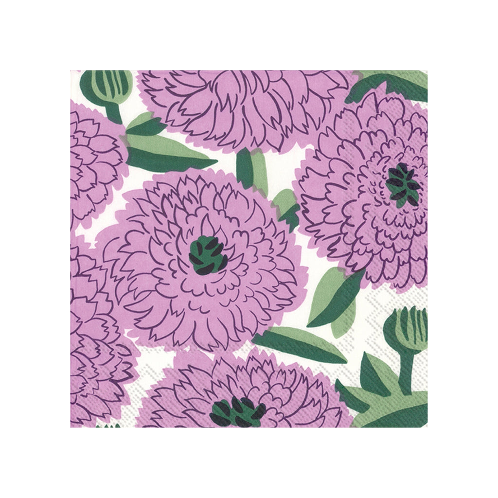 Marimekko lilac green PRIMAVERA Cocktail Napkins
