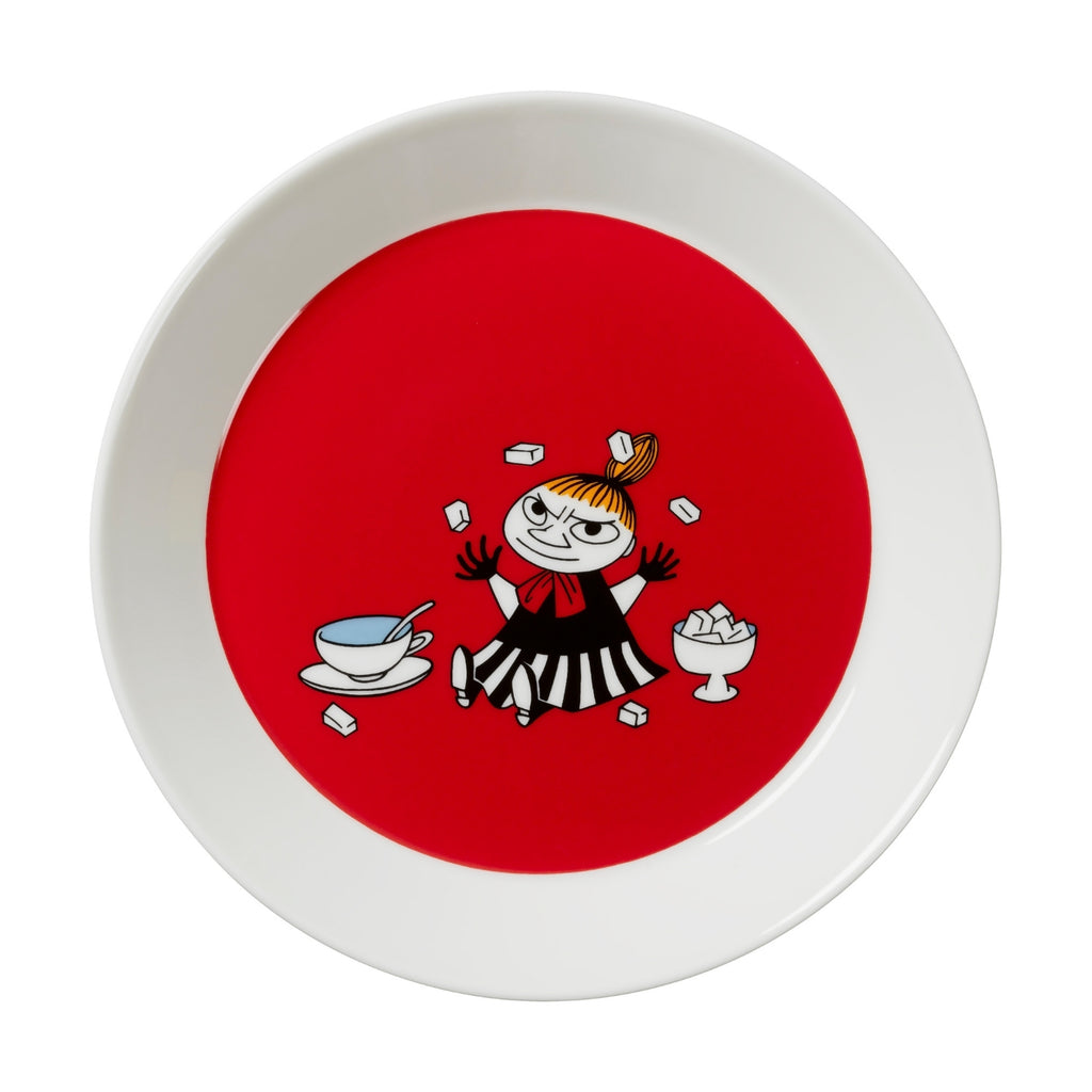 "Arabia MOOMIN red LITTLE MY Plate (7.5"")"