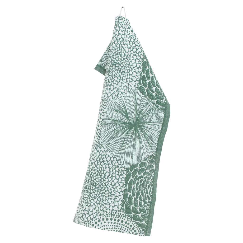 Lapuan Kankurit RUUT Tea Towel white-aspen green