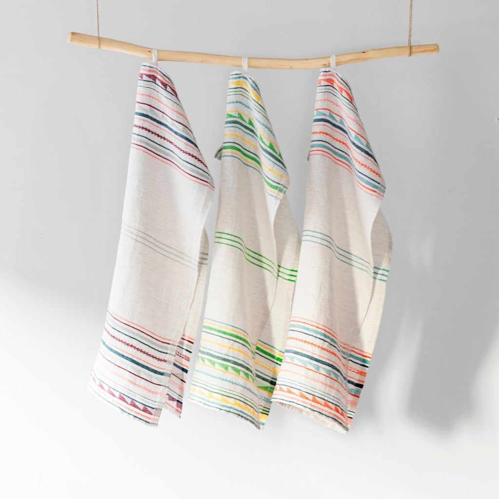 Lapuan Kankurit WATAMU 100% Traceable European Linen Tea Towel Collection weaved in Finland