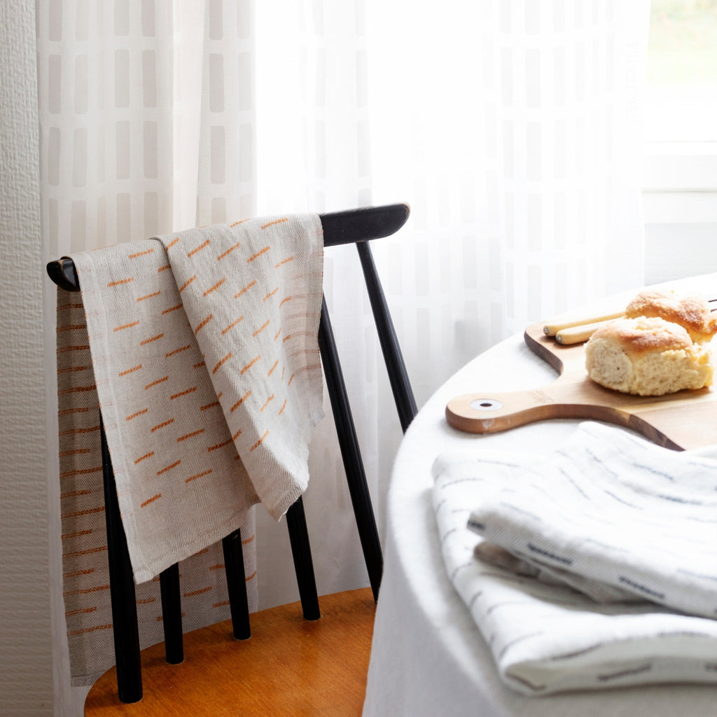 Lapuan Kankurit PAUSSI 100% Traceable European Linen Tea Towel Collection weaved in Finland