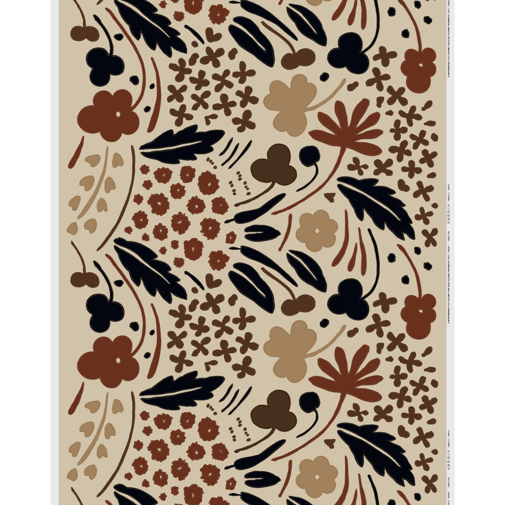 Marimekko SUVI cotton fabric brown