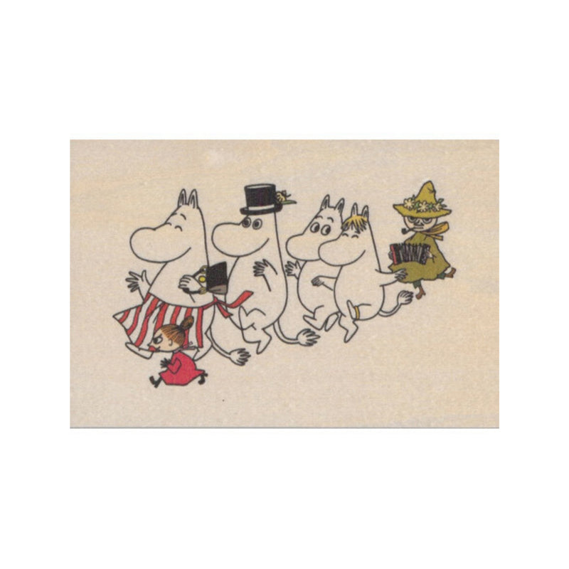 Come to Finland MOOMINS wooden postcard