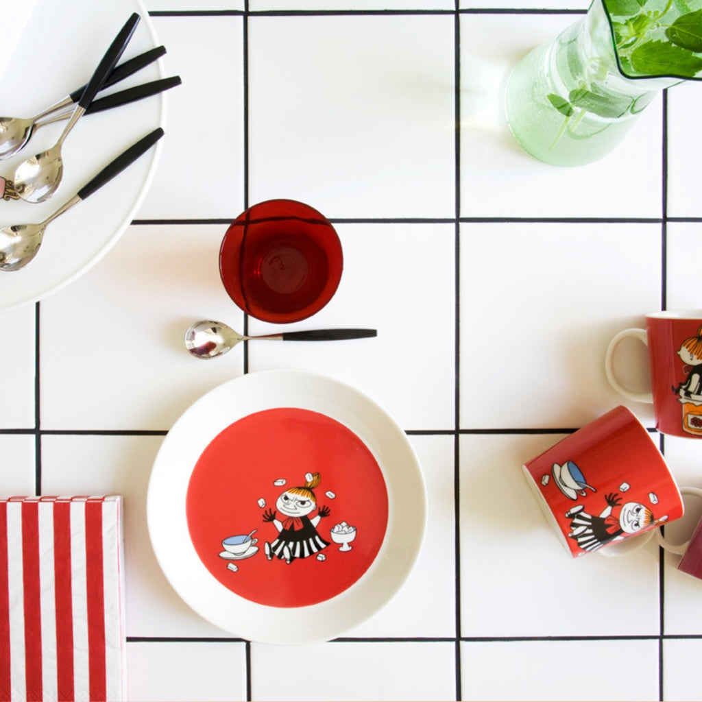 Arabia MOOMIN red LITTLE MY tableware inspiration