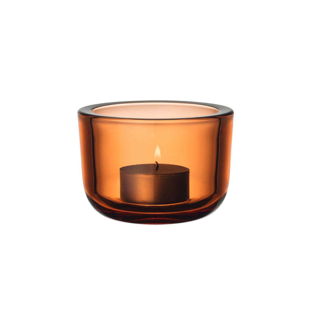 "Iittala VALKEA tealight holder (2.5"") seville orange"