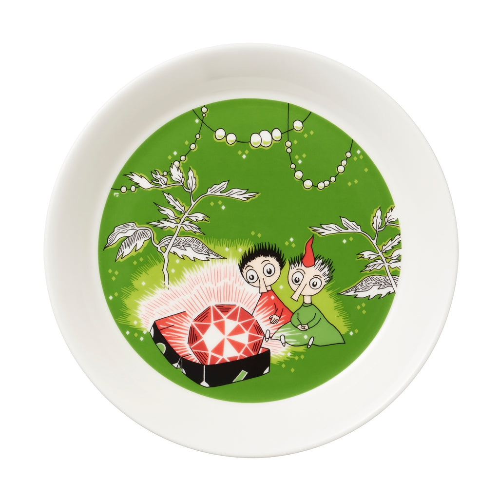 "Arabia MOOMIN green THINGUMY and BOB Plate (7.5"")"