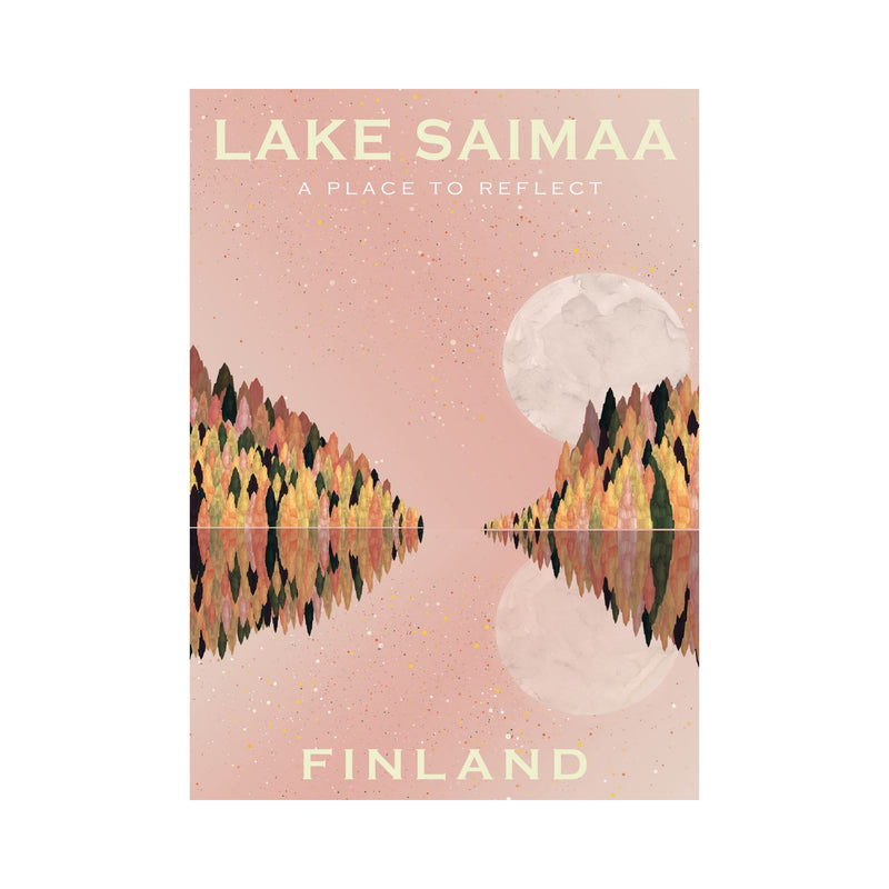 Come to Finland LAKE SAIMAA travel poster
