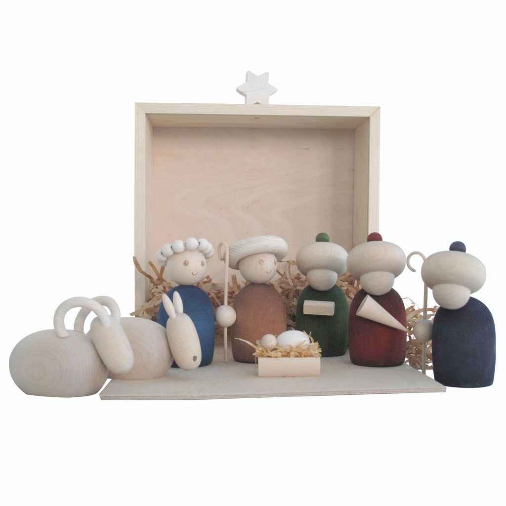 Aarikka SEIMI Nativity Set manger decoration