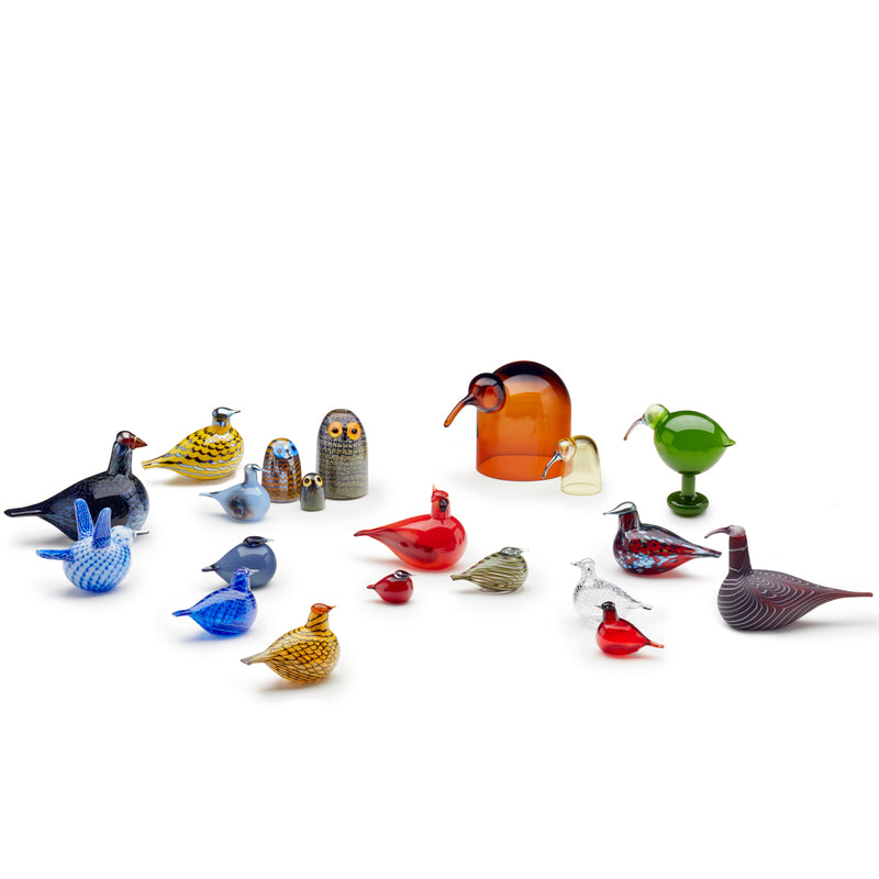 "Iittala BIRDS by TOIKKA (1972) Blue Bird (5""x 3.5"")"