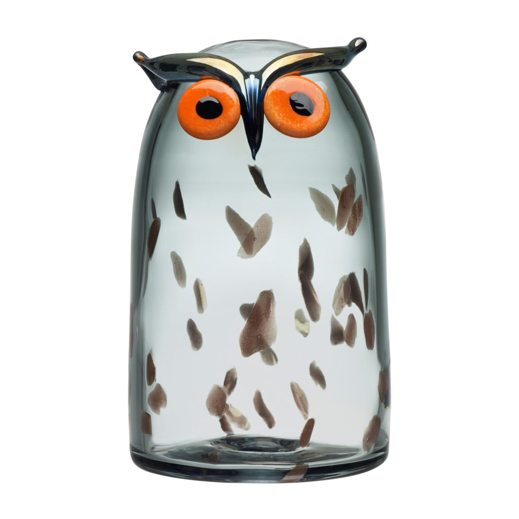 "Iittala BIRDS by TOIKKA (1972) Long-Eared Owl (4.3"" x 6.9"")"