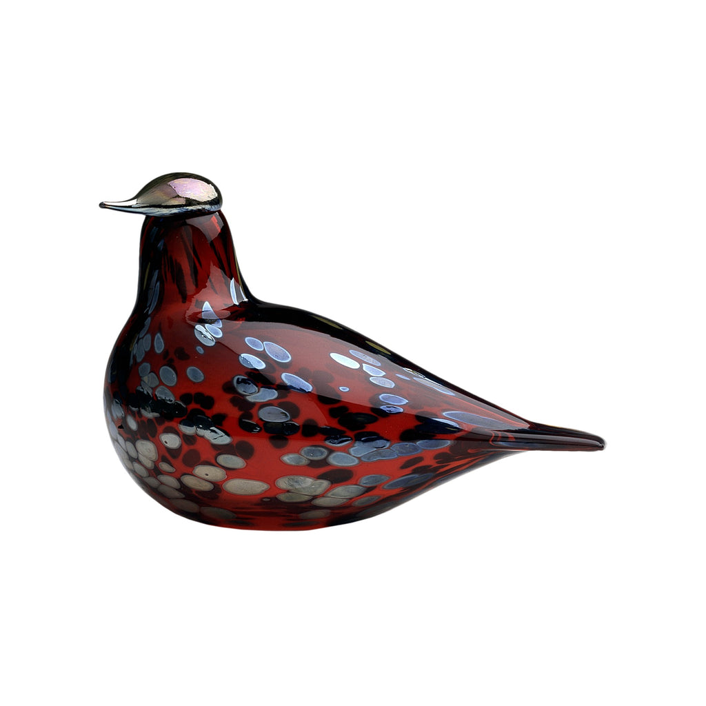 "Iittala BIRDS by TOIKKA (1972) Ruby Bird (8""x 5"")"