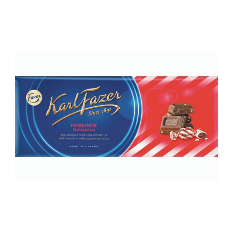 Fazer MARIANNE Peppermint Crisp Chocolate Bar