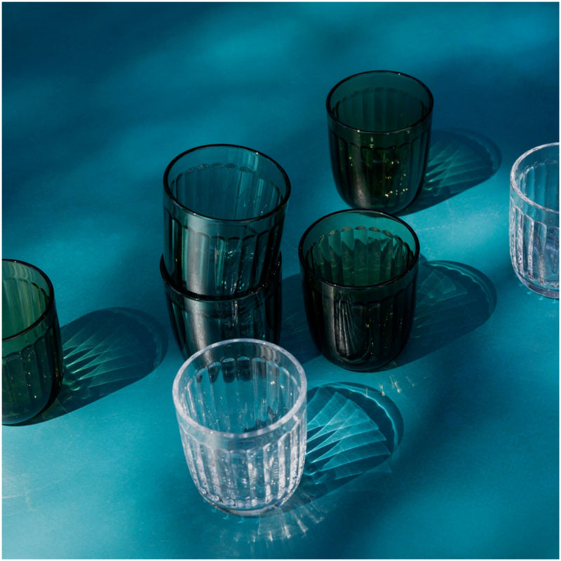 Iittala RAAMI tumblers inspiration clear moss green sea blue