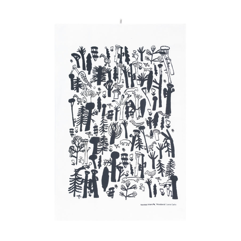 Kauniste WOODLANDS Tea Towel (2 color options)