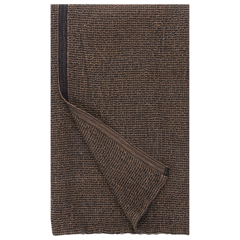 Lapuan Kankurit TERVA Bath Sheet (Linen-Tencel) Black Cinnamon
