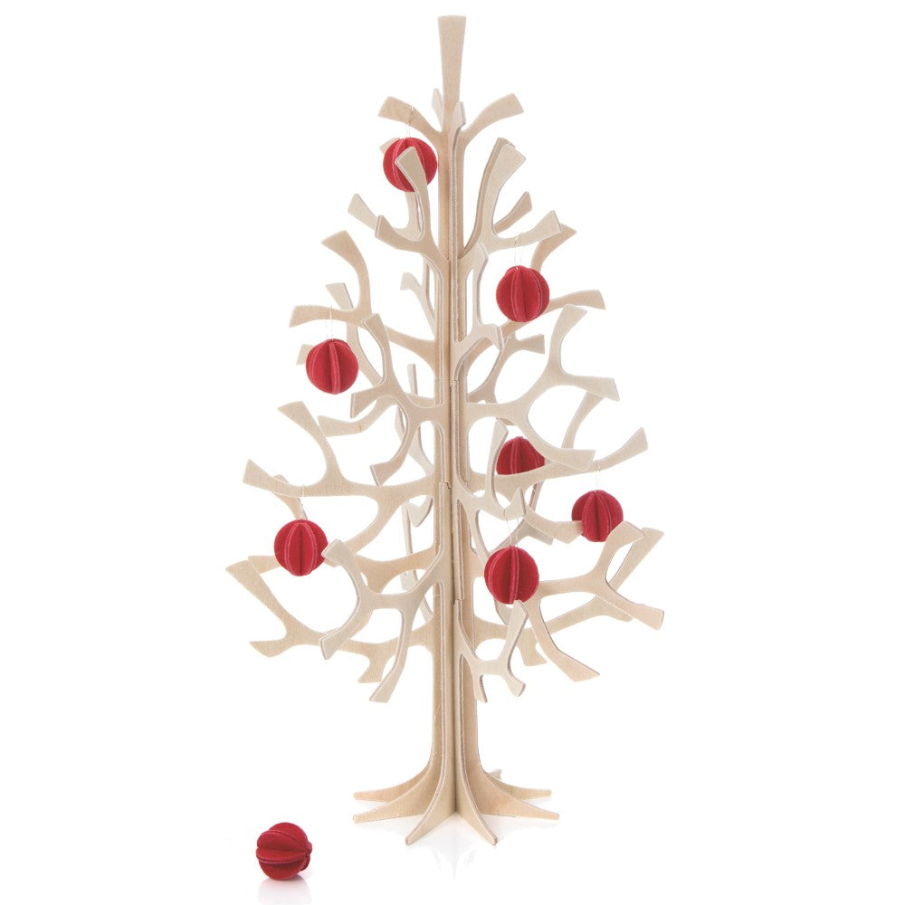 "Lovi SPRUCE TREE with mini baubles (11.8""/30 cm)"