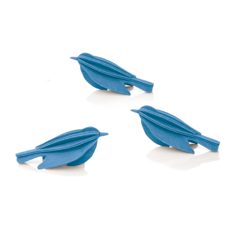 "Lovi MINIBIRDS Set of 3 (2"") Blue"