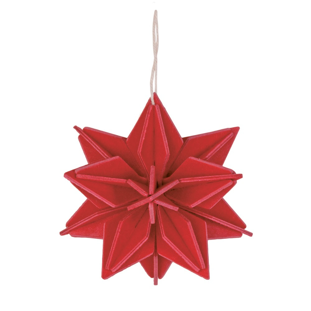 Lovi STAR Bright Red - 3D Decoration