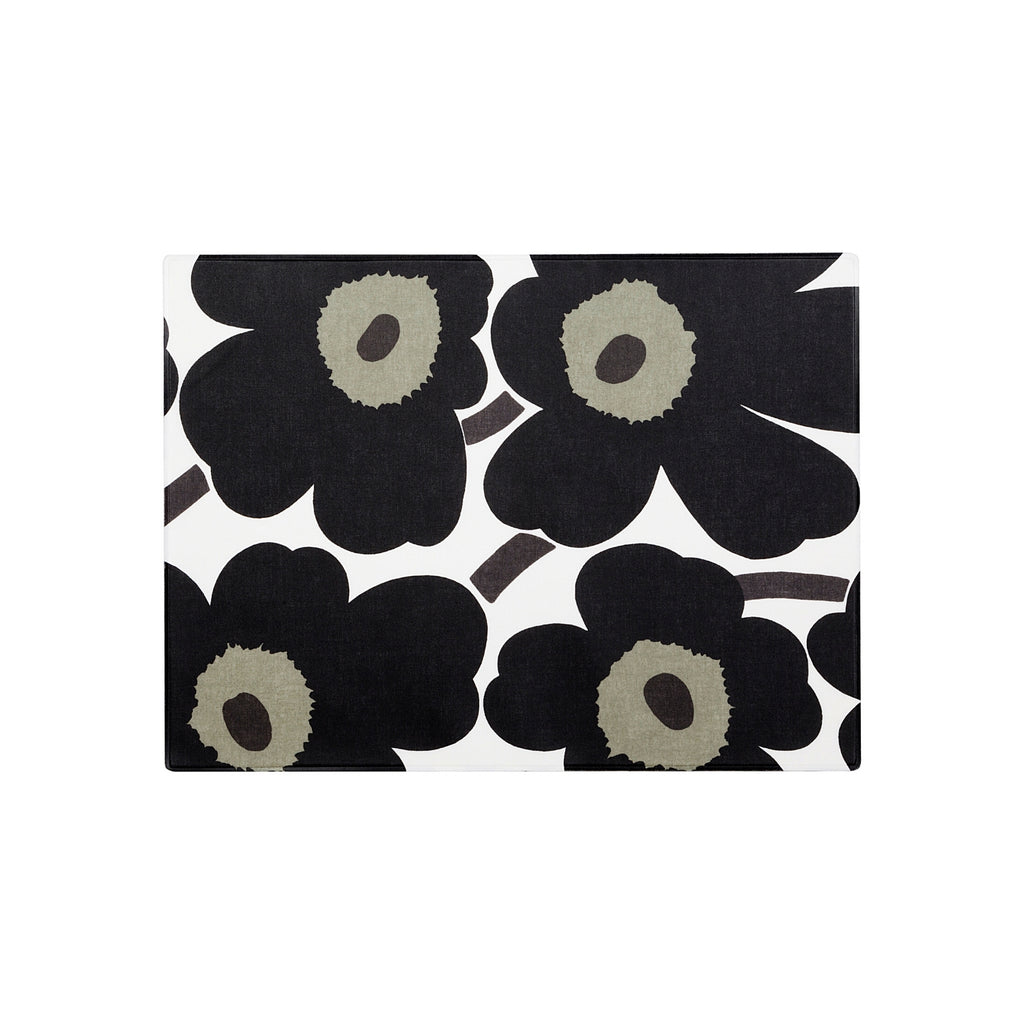 Marimekko PIENI UNIKKO acrylic coated 100%  cotton black and white  Placemat