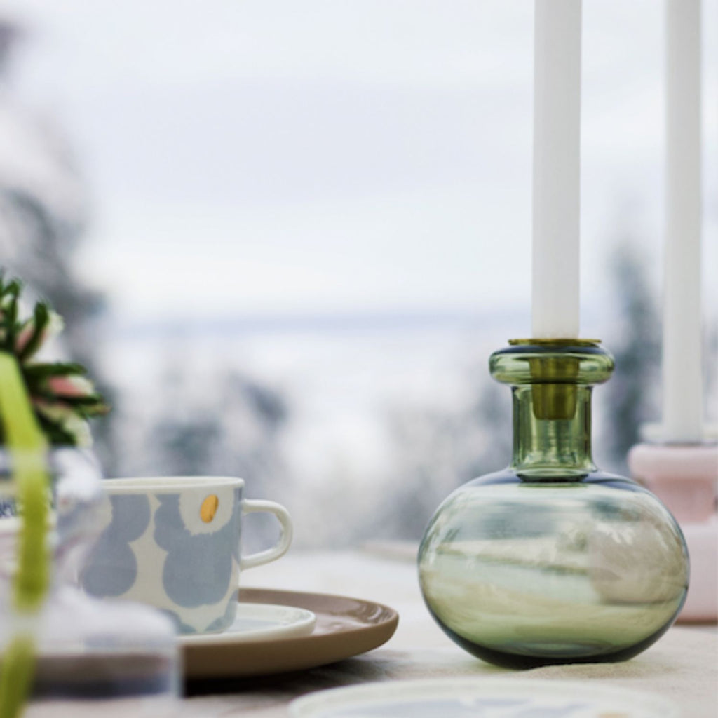 Marimekko moss green BUTTICULA Candle Holder inspiration