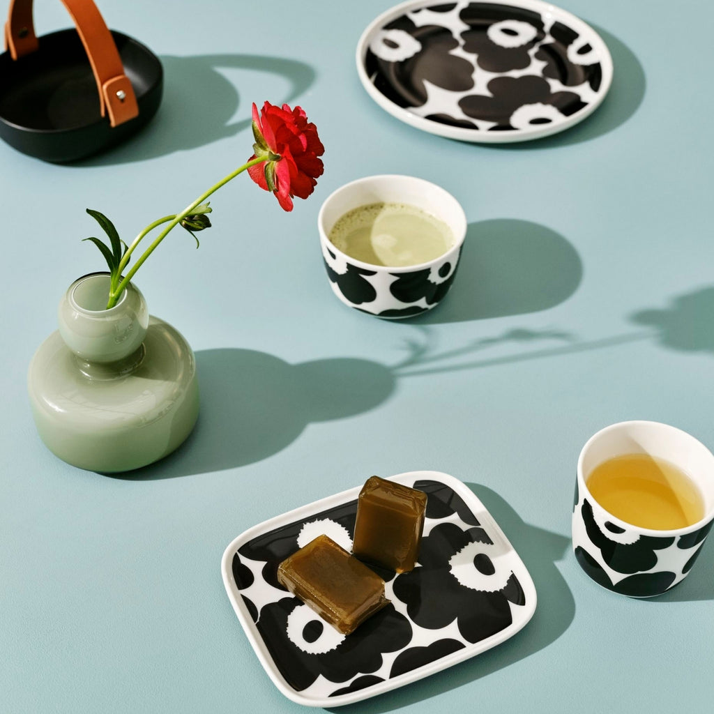 Marimekko black and white Unikko tableware collection