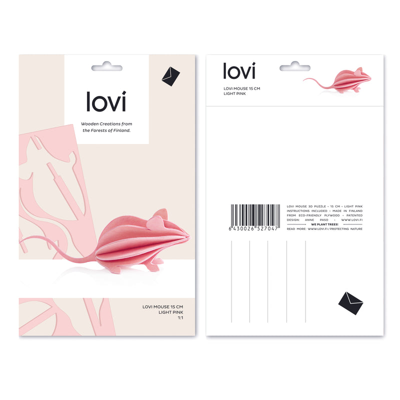 Lovi light pink MOUSE packaging