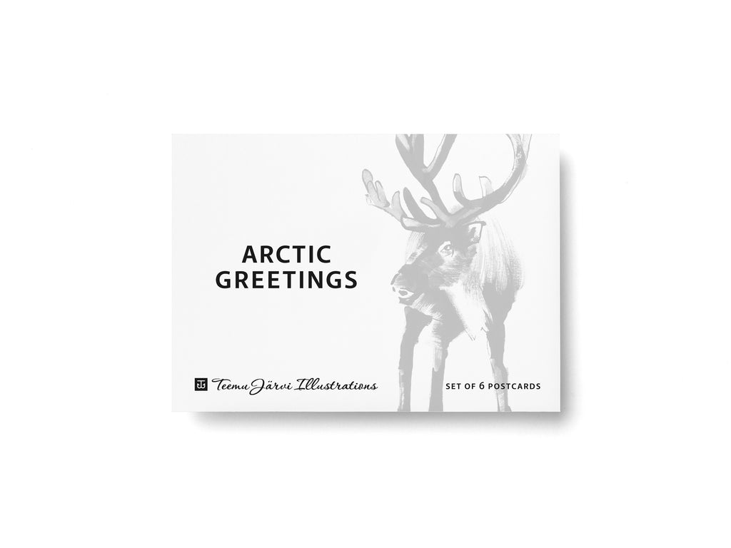 Teemu Järvi ARCTIC GREETINGS Set of 6 Animal Post Cards (4 x 6)