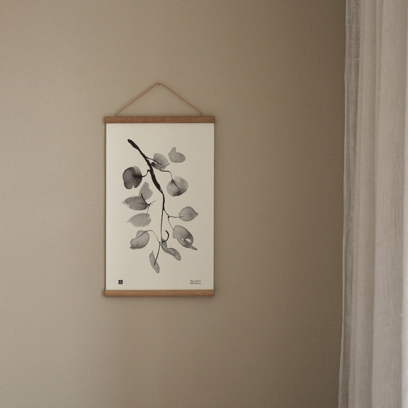 "Teemu Järvi BIRCH BRANCH print (12""x 20"") with Oak Frame"