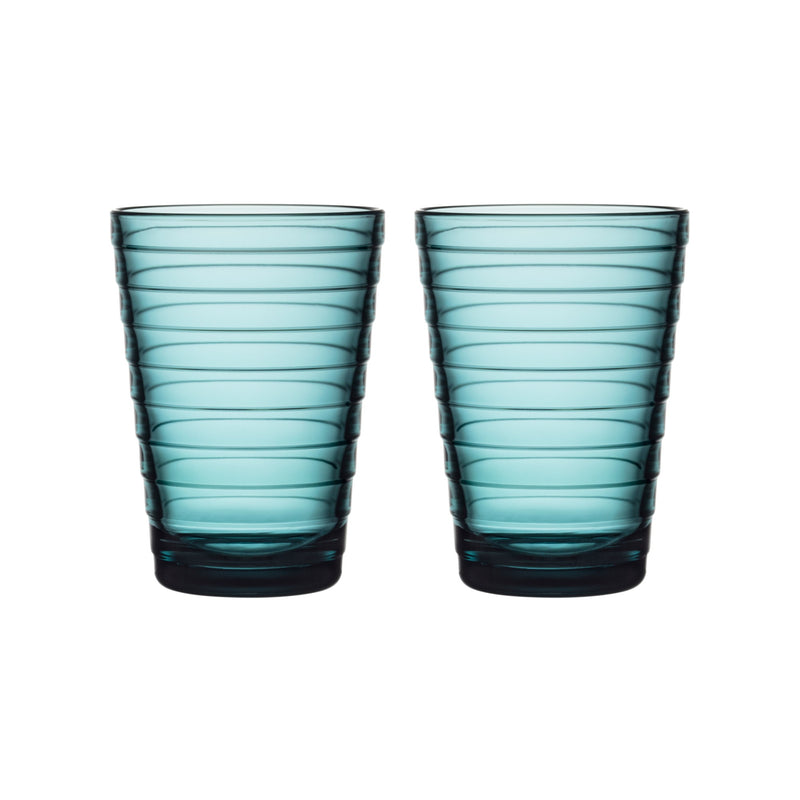 Iittala AINO AALTO (1932) Tumblers Set of 2 (11oz) sea blue