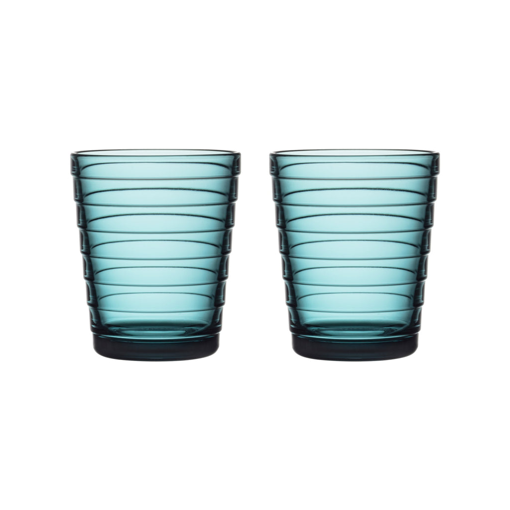 Iittala AINO AALTO (1932) Tumblers Set of 2 (7.75oz) sea blue