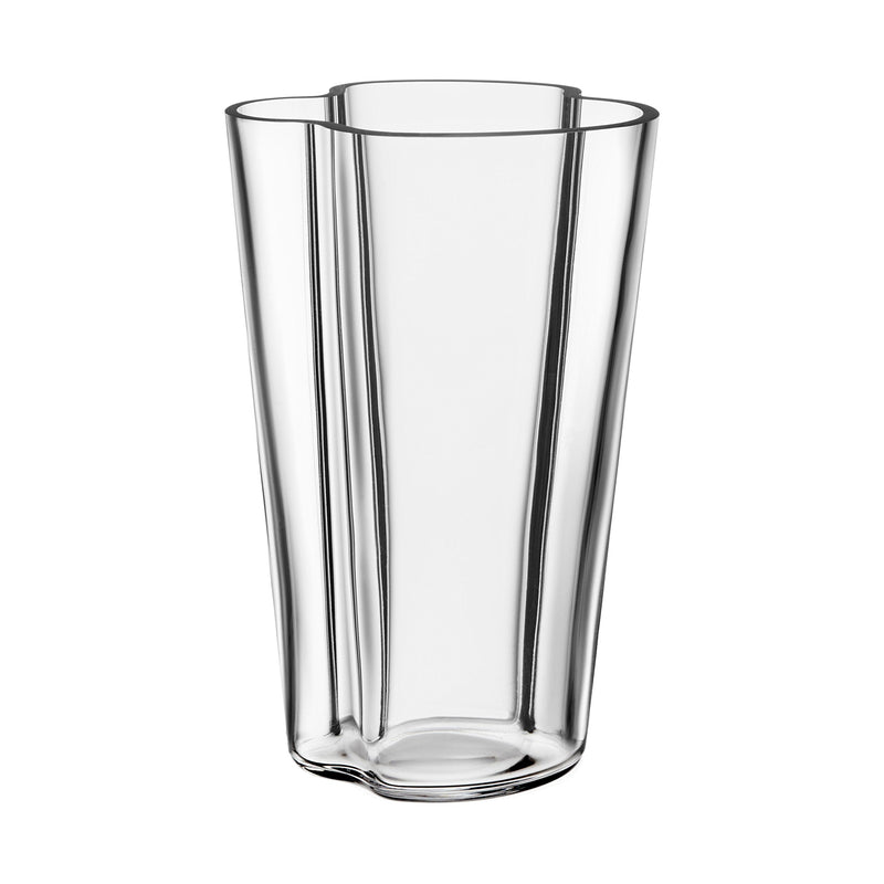 "Iittala ALVAR AALTO COLLECTION Vase (8.75"") clear"