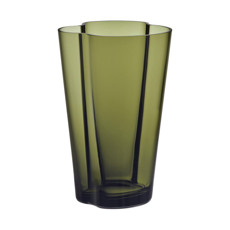 "Iittala ALVAR AALTO COLLECTION Vase (8.75"") moss green"