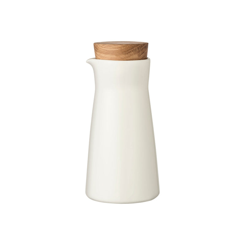 Iittala TEEMA (1952) Milk Pitcher with Wooden Lid (6.75 oz) white